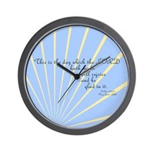 Psalms 118 24 Bible Verse Wall Clock