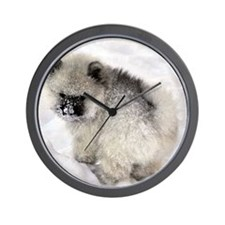 Newt in snow Wall Clock