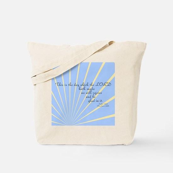 Psalms 118 24 Bible Verse Tote Bag