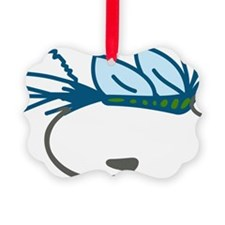 Fly Fishing Hooks Ornament