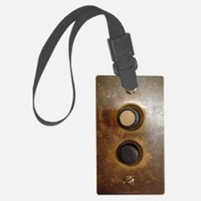 Victorian Push Button Light Swit Luggage Tag