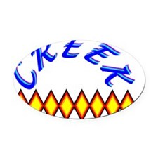 CREEK TRIBE Oval Car Magnet