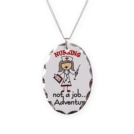 An Adventure Necklace Oval Charm