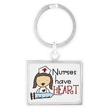 Nurses Have Heart Landscape Keychain