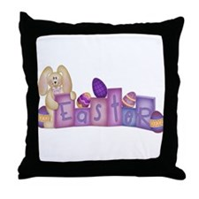 Cute Bunny - Easter Block's Throw Pillow