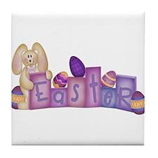 Cute Bunny - Easter Block's Tile Coaster
