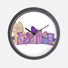 Cute Bunny - Easter Block's Wall Clock