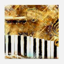 Musical Grunge Tile Coaster