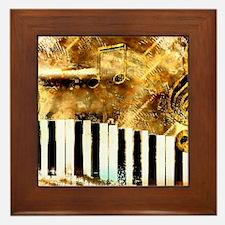 Musical Grunge Framed Tile