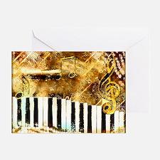 Musical Grunge Greeting Card
