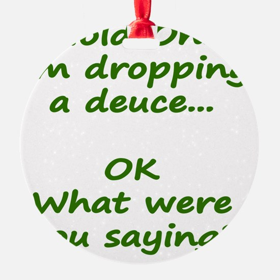 Hold On! Im dropping a deuce Ornament