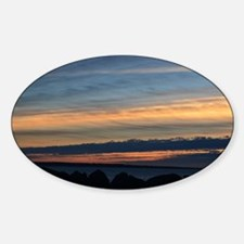 Columbia River Sunset Sticker (Oval)