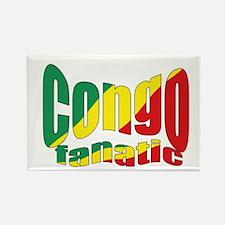 Congo fanatic flag Rectangle Magnet