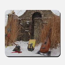 2Cal_Jan_Lute_Guitar_Old_World_Alamo Mousepad