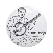 Little Banjo Makes All Things Bette Round Ornament