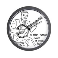 Little Banjo Makes All Things Better Wall Clock
