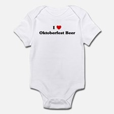 I love Oktoberfest Beer Infant Bodysuit