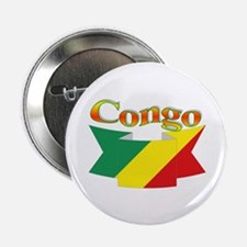 Congo CGO flag ribbon Button
