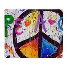 Love and Peace and Children Throw Blanket