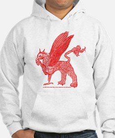 Red Gryphon With Football Hoodie