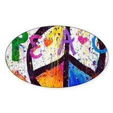 Love and Peace and Children Decal