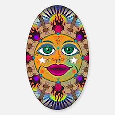 Music Sun Mandala Sticker (Oval)