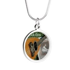 2Cal_Forever_Mandolins_Cover Silver Round Necklace