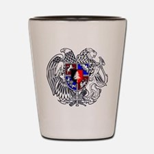 Masters Athlete Coat of Arms Textless Shot Glass