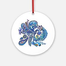Wild Paisley Round Ornament