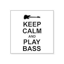 "Keep Calm - Bass2 Square Sticker 3"" x 3"""