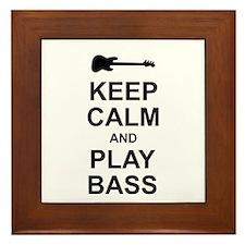 Keep Calm - Bass2 Framed Tile