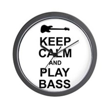 Keep Calm - Bass2 Wall Clock