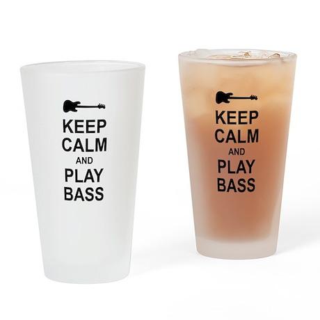 Keep Calm - Bass2 Drinking Glass