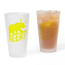 The Bear Deer Beer Drinking Glass
