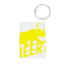 The Bear Deer Beer Aluminum Photo Keychain