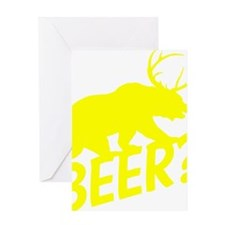 The Bear Deer Beer Greeting Card