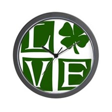 Love St. Patricks Day Wall Clock