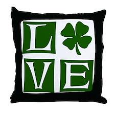 Love St. Patricks Day Throw Pillow