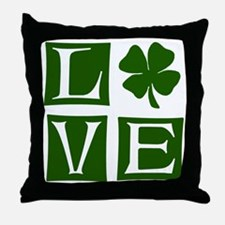Love St. Patricks Day Throw Pillow