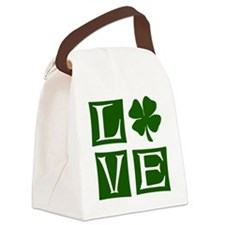 Love St. Patricks Day Canvas Lunch Bag