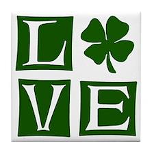 Love St. Patricks Day Tile Coaster