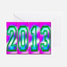 Electric 2013 - Pink Blue Green Greeting Card