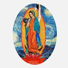 CrossFit Lady of Guadalupe Oval Ornament