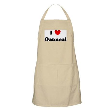 I love Oatmeal BBQ Apron