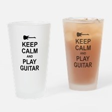 Keep Calm - Guitar (Electric) Drinking Glass