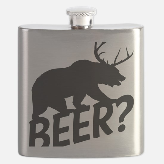 The Bear Deer Beer Flask