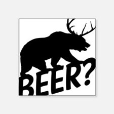 """The Bear Deer Beer Square Sticker 3"""" x 3"""""""