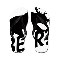 The Bear Deer Beer Flip Flops
