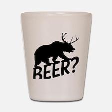 The Bear Deer Beer Shot Glass