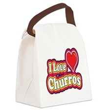 logo love churros Canvas Lunch Bag